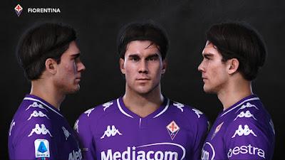 PES 2021 Faces Dusan Vlahovic by Prince Hamiz