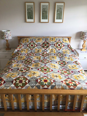 Bonnie Hunter's Grassy Creek 2020 Mystery Quilt -  On the bed