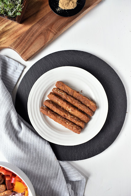 Tempeh Baked in Peanut Sauce