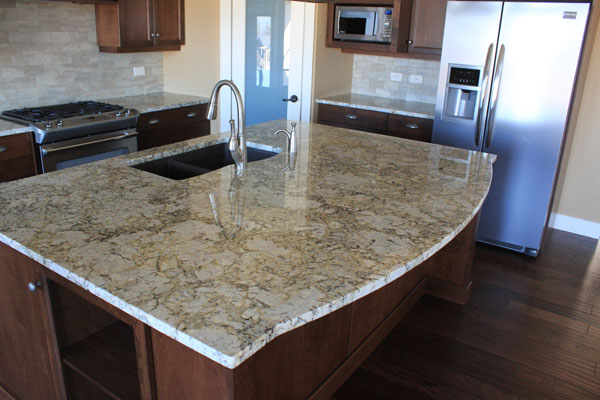 arctic pearl granite with white cabinets