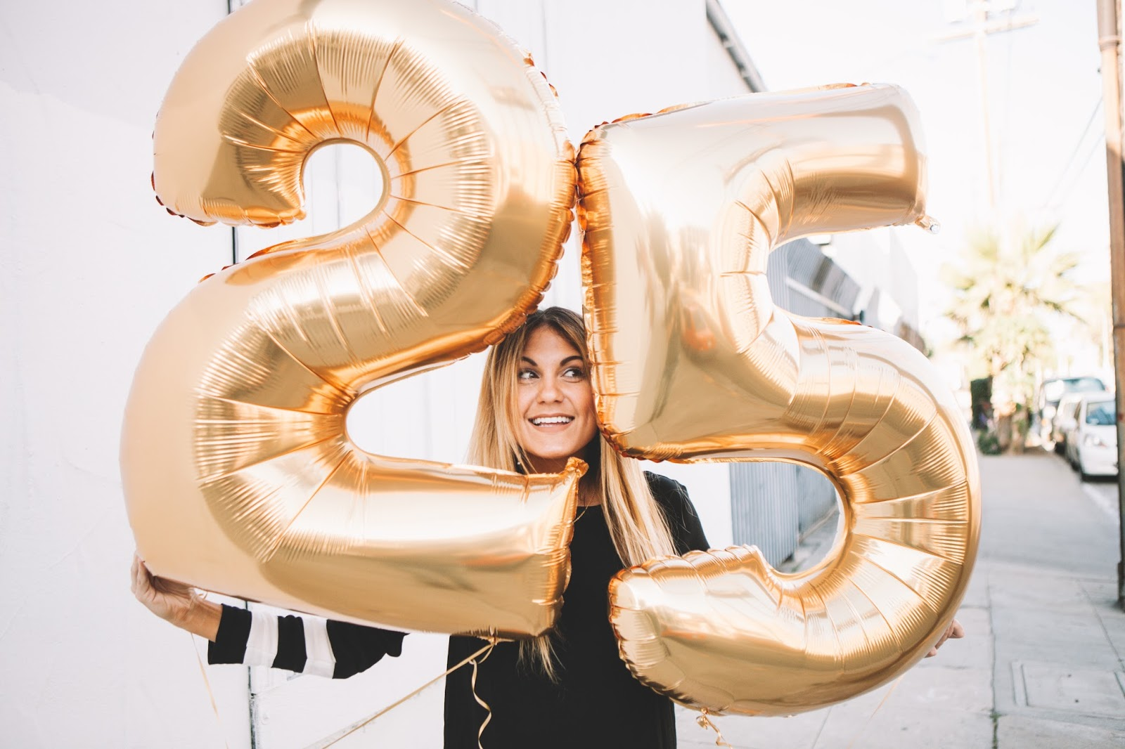 Gold Balloons for my 25th Birthday! | My Cup of Chic
