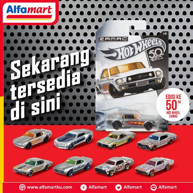 Temukan produk exclusive edisi 50 tahun HOT WHEELS Zamac hanya di Alfamart