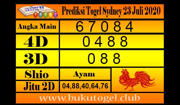 Prediksi Togel Sydney 23 Juli 2020