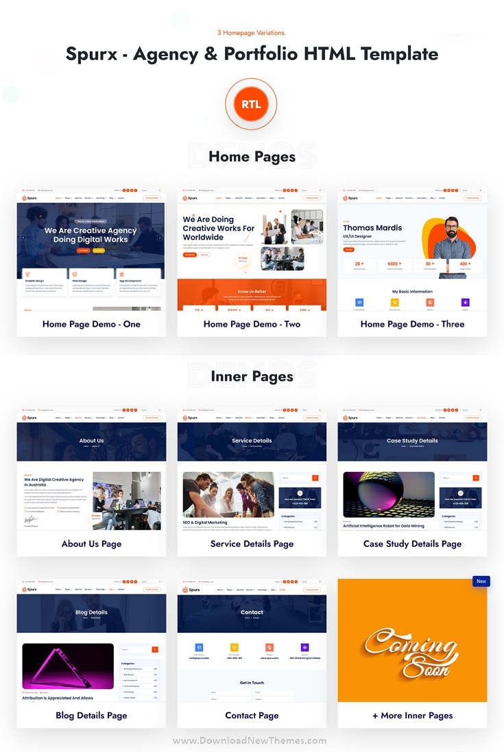 Agency & Portfolio Bootstrap Template