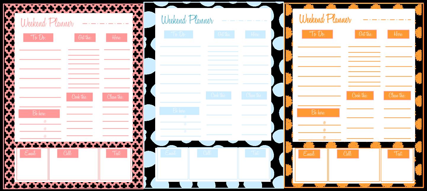 rnlMusings: Printable :: Weekend Planner