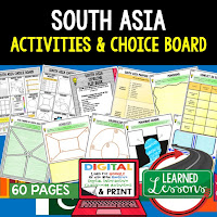 South Asia Geography Activities, World Geography Graphic Organizers, World Geography Digital Interactive Notebook, World Geography Summer School, World Geography Google Activities