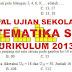 Soal dan Kunci Jawaban Ujian Sekolah Matematika SMP Tahun Pelajaran 2019/2020 Kurikulum 2013