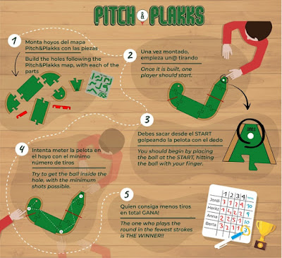 Pitch & Plakks Mini Golf Board Game
