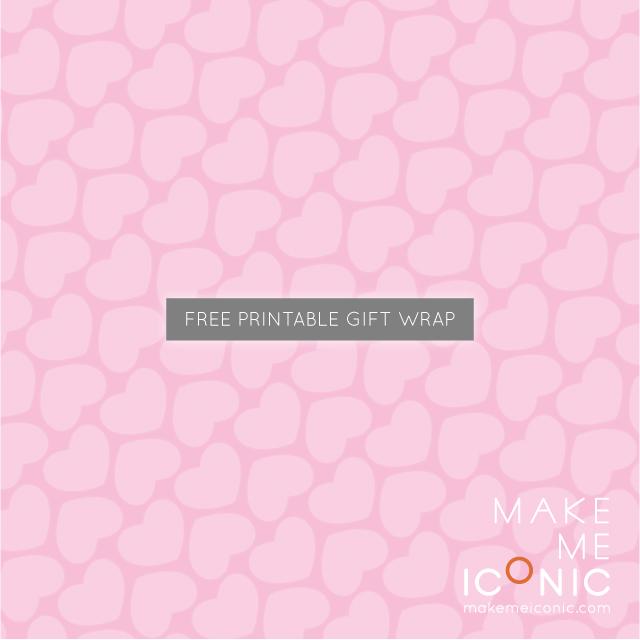 make me iconic free printable gift wrap. Black Bedroom Furniture Sets. Home Design Ideas