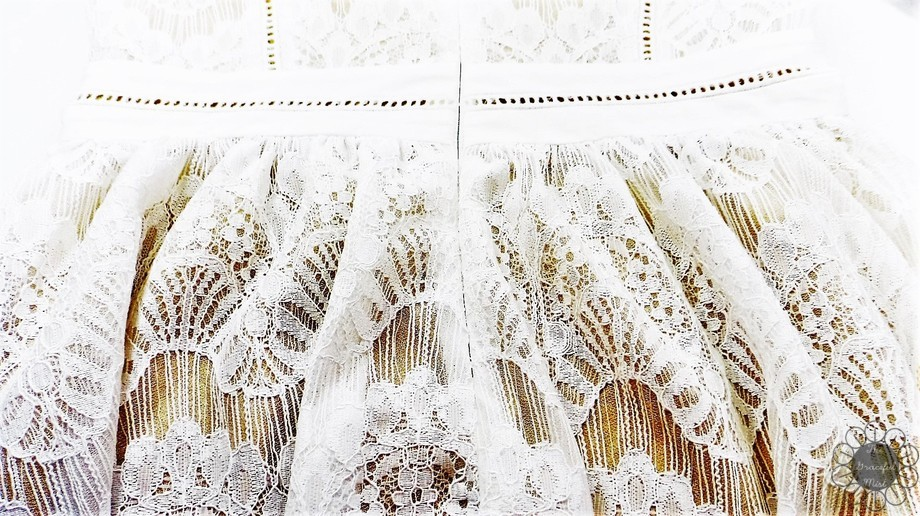 "Dressfo Review - ""Pure and Plain High-Waist Lace Dress"" - Zipper at the Back (www.TheGracefulMist.com)"