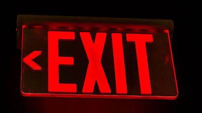 Neon Exit Sign wallpaper, inscription, red