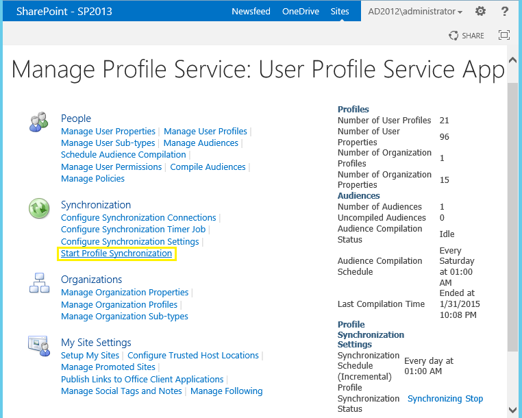 Start SharePoint User Profile Synchronization using PowerShell