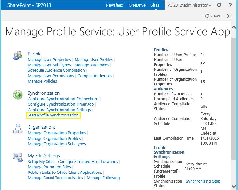 Start SharePoint User Profile Synchronization using PowerShell