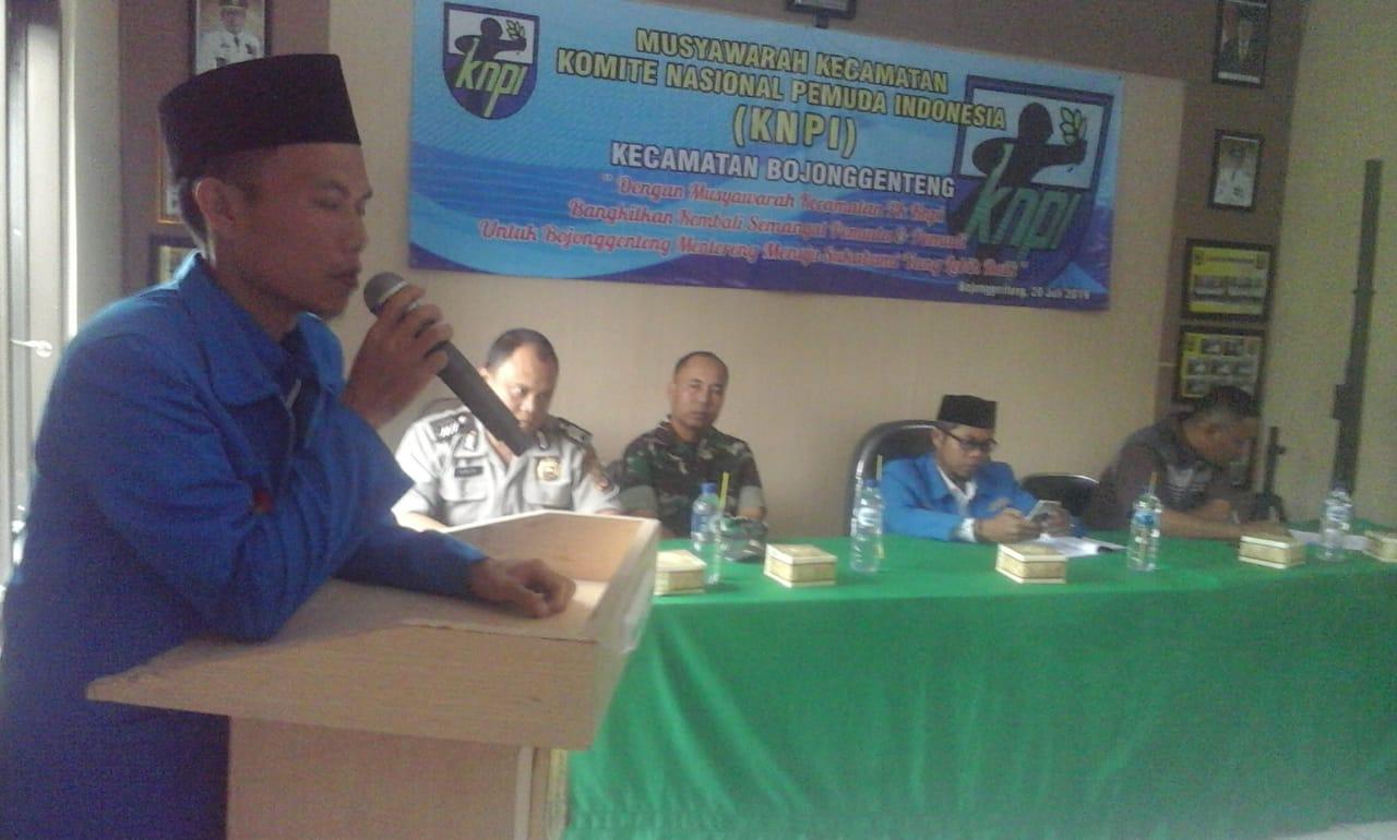 KNPI Cabang Kecamatan Bojonggenteng Adakan Muscam 2019.