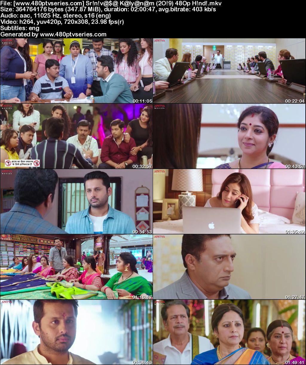 Srinivasa Kalyanam (2019) 350MB Full Hindi Dubbed Movie Download 480p HDRip Free Watch Online Full Movie Download Worldfree4u 9xmovies
