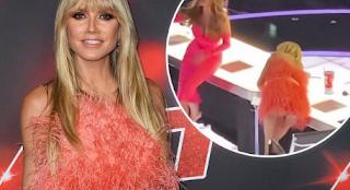 Heidi klum flashes agt video tiktok married to