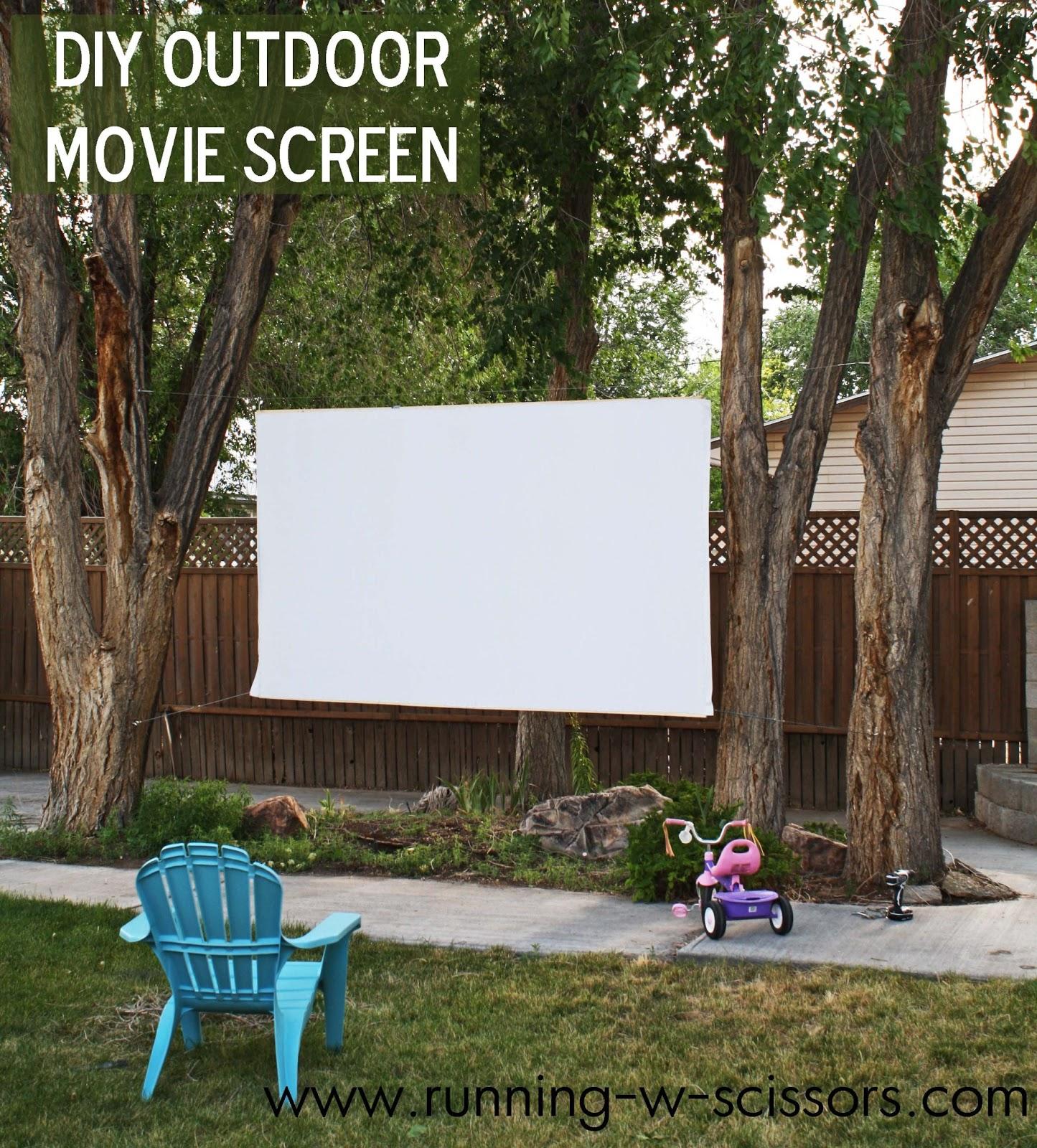 running with scissors diy outdoor movie screen
