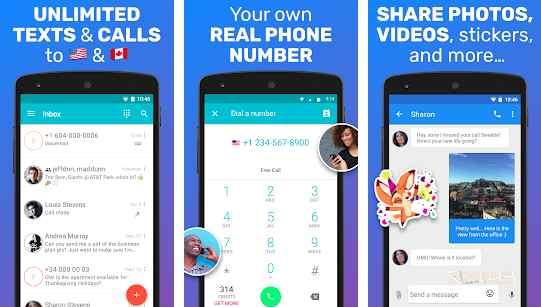 Textme up best fake number generator app