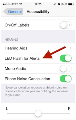 Cara Mengaktfikan LED Notifications di iPhone
