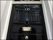 Modern hindsight for 10 downing street front door paint