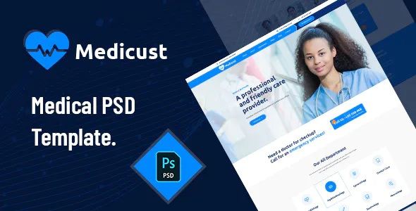 Best Health and Medical PSD Template