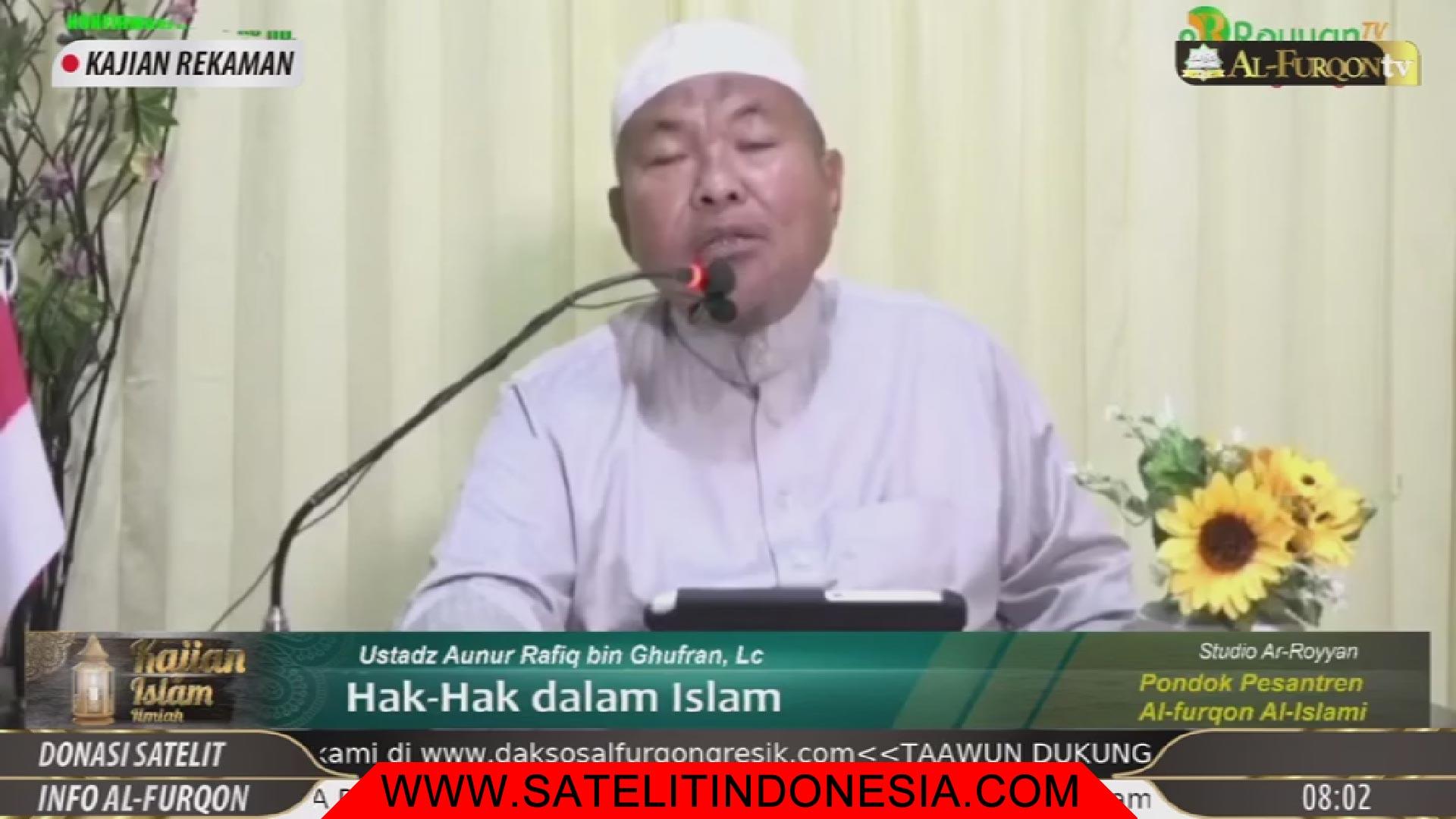 Frekuensi siaran Alfurqon TV di satelit Telkom 4 Terbaru