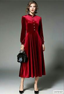 Women's Velvet Maxi Dresses