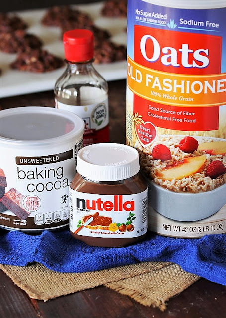 Nutella No-Bake Cookies Ingredients Image