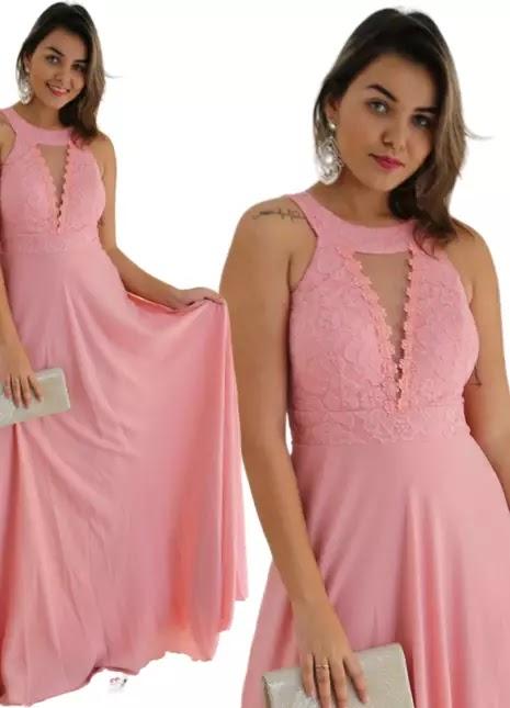 Vestido Rosa da Shafa