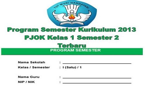 Program Semester Kurikulum 2013 PJOK Kelas 1 Semester 2 Terbaru