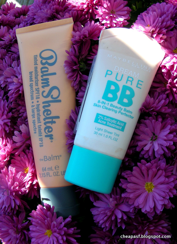 Review of TheBalm Balm Shelter in Lighter than Light and Maybelline Dream Pure BB in Light