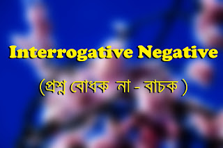 Interrogative Negative Sentences in Present Tense
