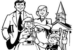 Catatanku Anak Desa Gambar Mewarnai Keluarga Kristen