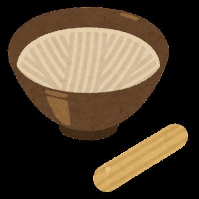 すり鉢のイラスト