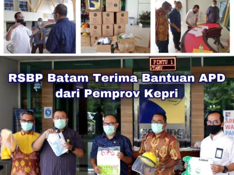 RSBP Batam Terima Bantuan APD dari Pemprov Kepri