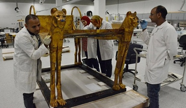 Tutankhamun's second bed transferred to new Grand Egyptian Museum in Giza