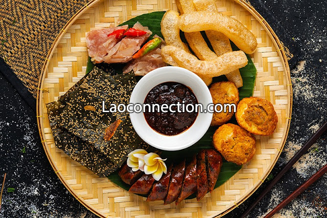 Lao snack foods or a light meal