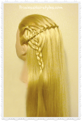 Waterfall twist and cookie cutter braid combo hairstyle. Video tutorial.