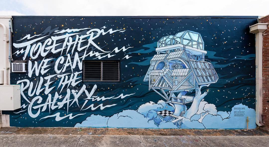 Darth Vader Baumhaus Mural und mehr | Kunstwerke von Wooden Wave - Streetart