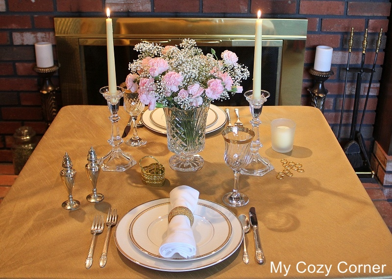 My Cozy Corner Tablescape 61 A Romantic Dinner