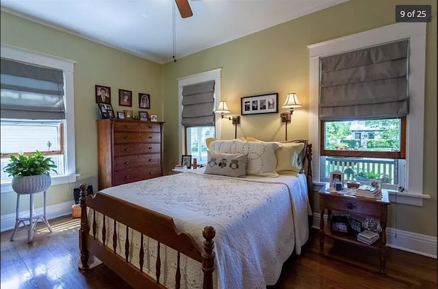 color photo of front bedroom with 3 windows, Sears Kilbourne 201 Iola Street Glenshaw Pennsylvania