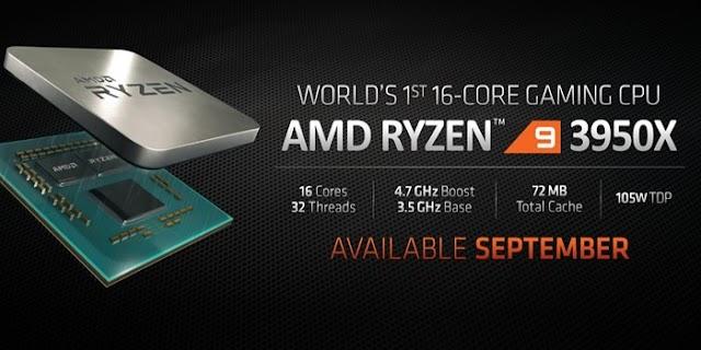 AMD Ryzen 9 3950X é a 1ª CPU doméstica com 16 núcleos e 32 threads do mundo