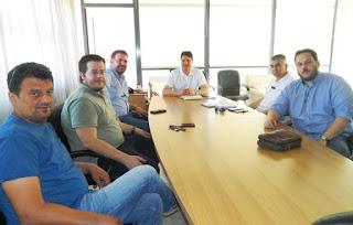Αθανασόπουλος με μέλη της Ν.Ε. του ΤΕΕ Μεσσηνίας