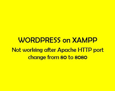 WordPress not opening on localhost:8080 after port change from 80 to 8080
