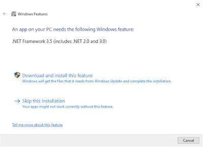 cara install net framework 3.5 offline