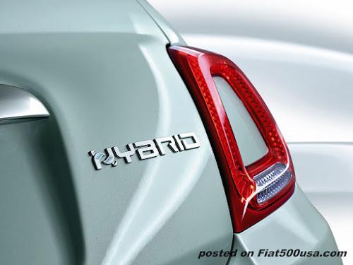 Fiat 500 Hybrid Trunk Logo