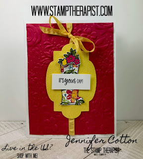 Jennifer's free class kit March 2020 using Stampin' Up!'s Under My Umbrella Bundle.  Click the picture to go to blog for video on how to make the 4 cards.  #stampinup #StampTherapist
