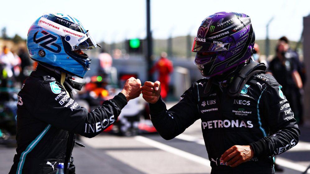 Bottas venceu Hamilton para a pole em Portugal