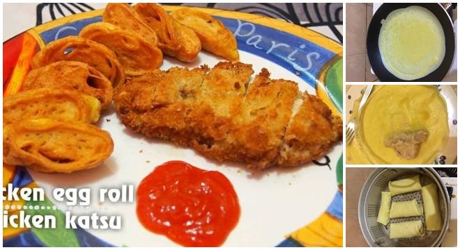 Ini Resep Rahasia Cara Membuat Chicken Egg Roll Ala Hokben