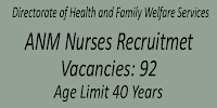 ANM Nurses Recruitment- Attend the Interview- 92 Vacancies
